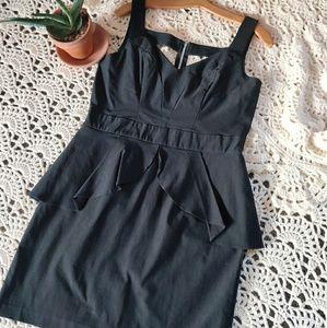 Paper Doll - Black Peplum Midi Dress - Size 13